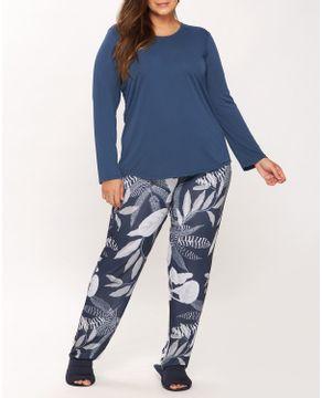 Pijama-Plus-Size-Feminino-Recco-Supermicro-Folhas