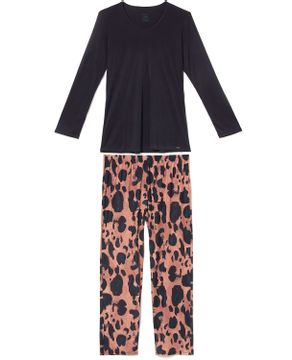 Pijama-Plus-Size-Feminino-Recco-Supermicro-Onca