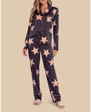 Pijama-Longo-Feminino-Aberto-Lua-Lua-Satine-Estrelas