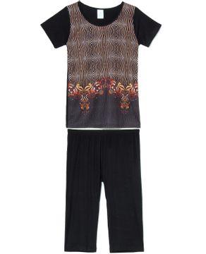 Pijama-Capri-Toque-Viscolycra-Poliplex-Animal-Print