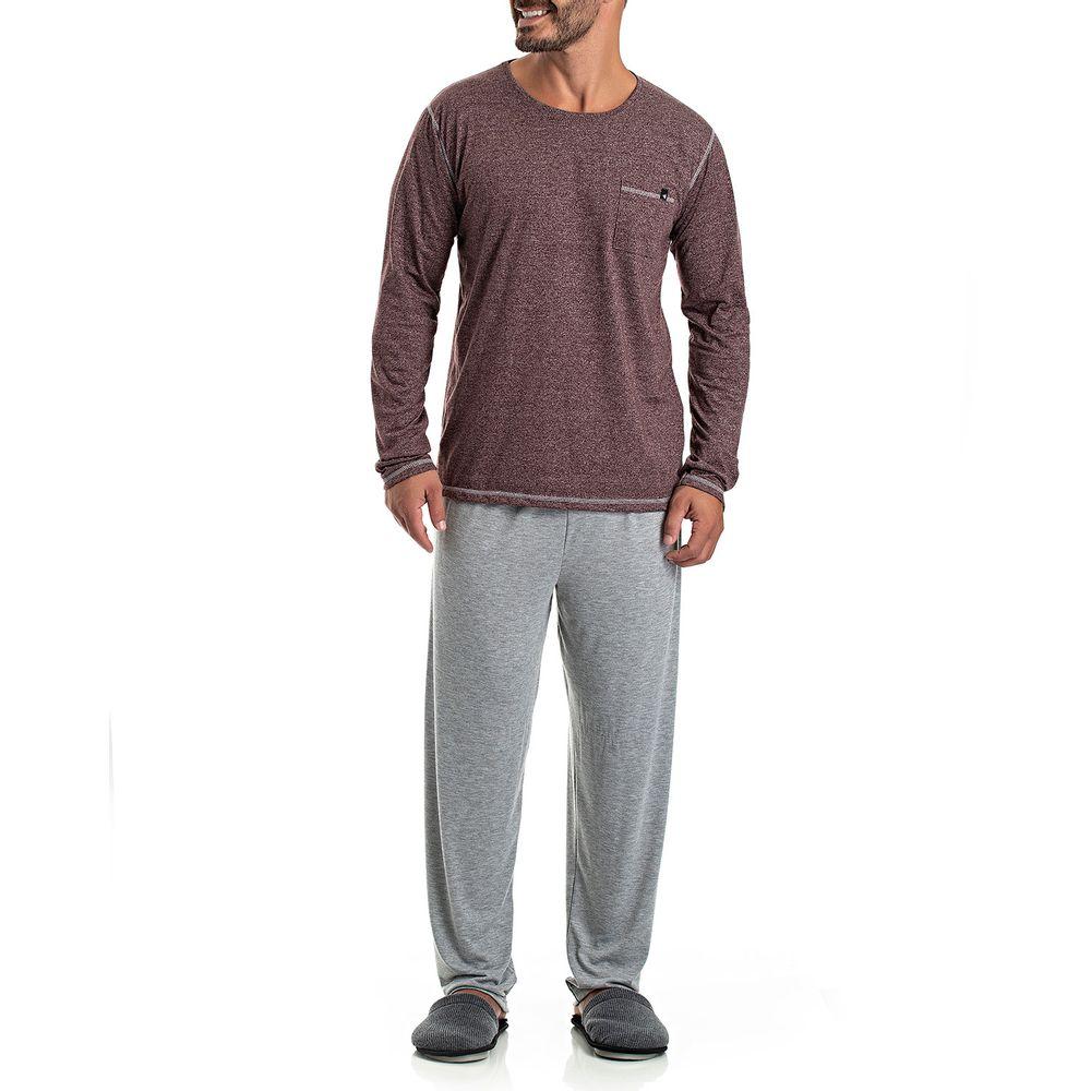 Pijama-Masculino-Longo-Toque-Malha-Moline-Mescla