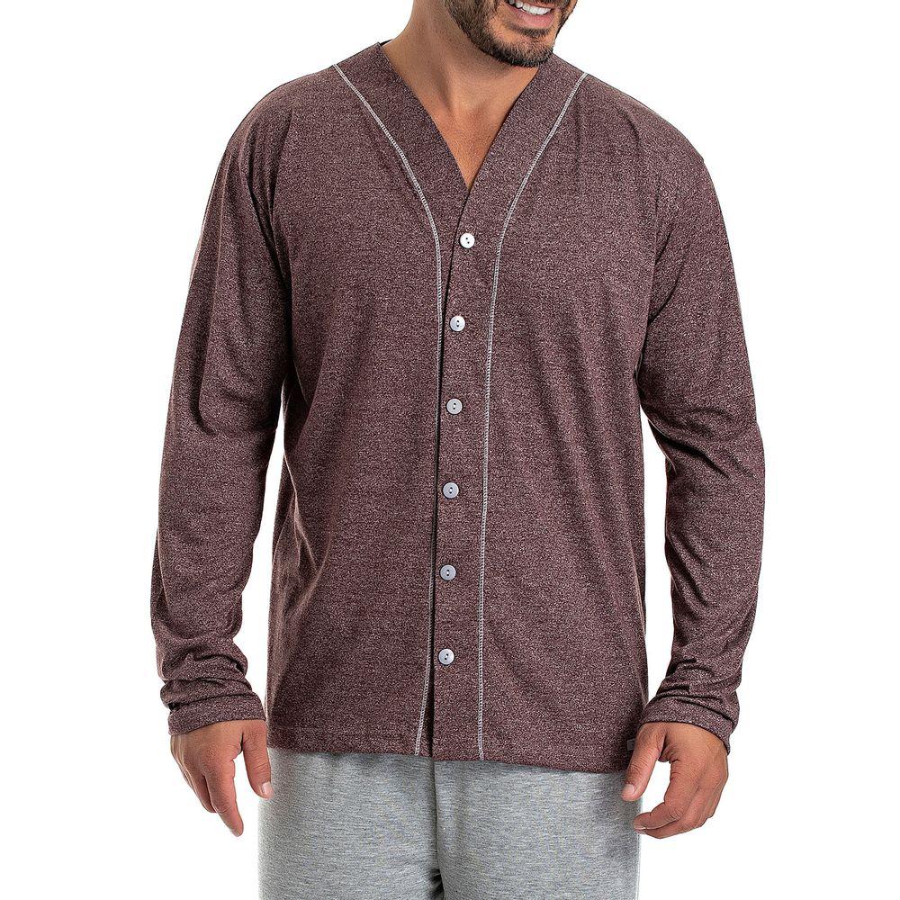 Pijama-Masculino-Toque-Aberto-Malha-Moline-Mescla
