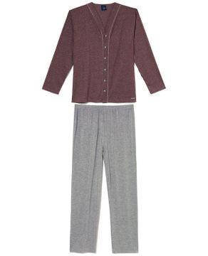 Pijama-Plus-Size-Masculino-Aberto-Toque-Malha-Mescla