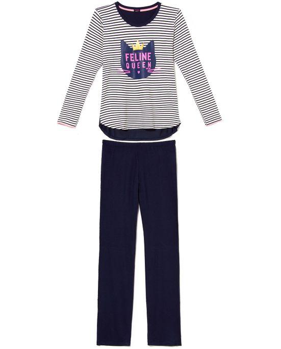 Pijama-Feminino-Any-Any-Visco-Premium-Gato-Listras