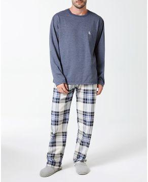 Pijama-Masculino-Lua-Cheia-Flanelado-Mescla-Xadrez