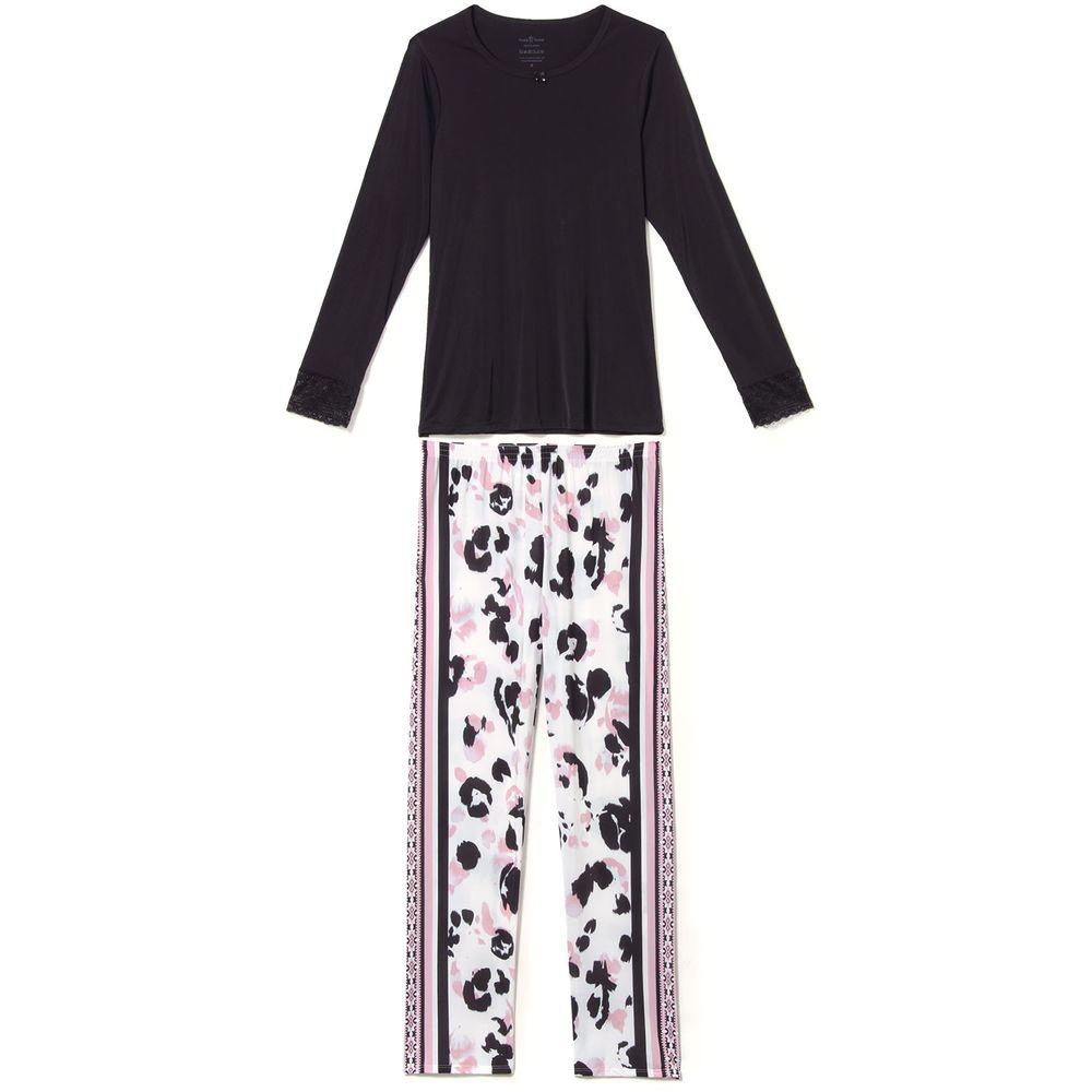 Pijama-Feminino-Daniela-Tombini-Microfibra-Calca-Onca