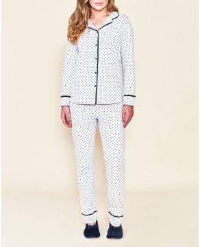 Pijama-Feminino-Longo-Aberto-Lua-Cheia-Flanelado-Poa