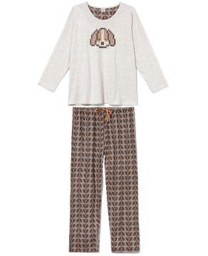 Pijama-Plus-Size-Feminino-Lua-Encantada-Malha-Dog