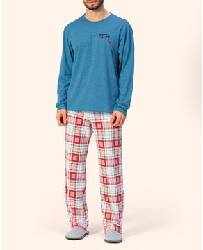 Pijama-Masculino-Lua-Encantada-Algodao-Calca-Xadrez