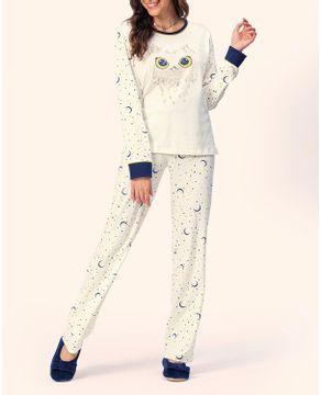 Pijama-Feminino-Lua-Encantada-Flanelado-Coruja
