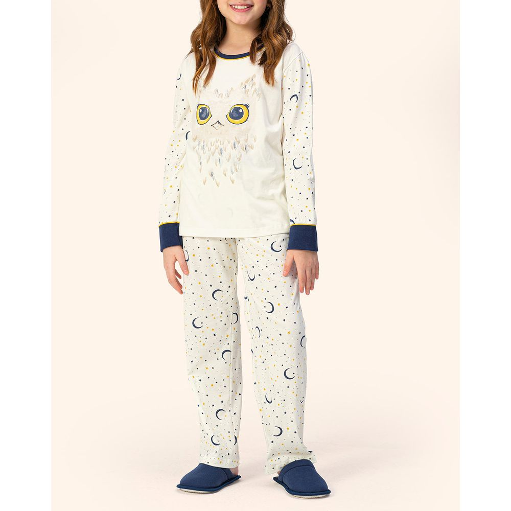 Pijama-Infantil-Feminino-Lua-Encantada-Flanelado-Coruja