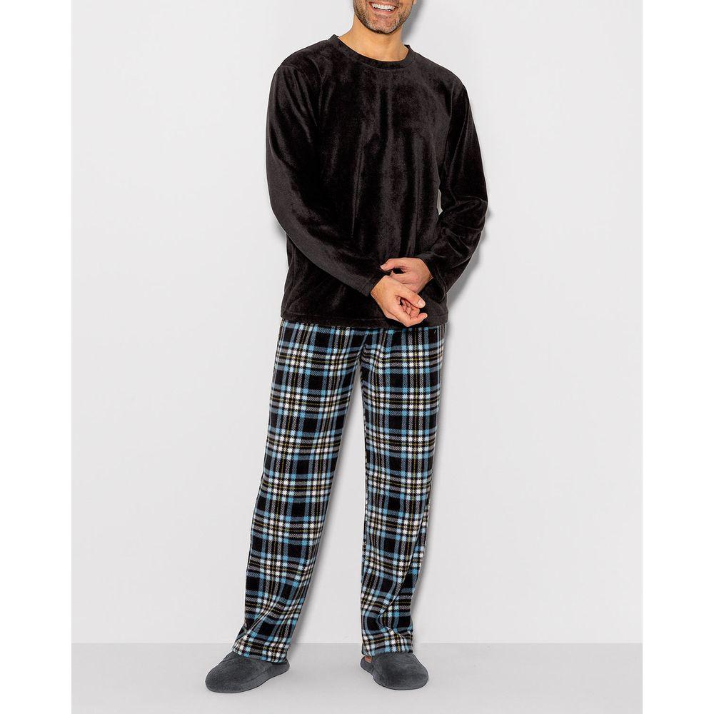 Pijama-Masculino-Longo-Any-Any-Soft-Calca-Xadrez