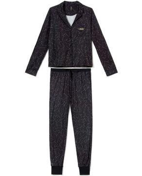 Pijama-Americano-Lua-Lua-Malha-Touch-Constelacao
