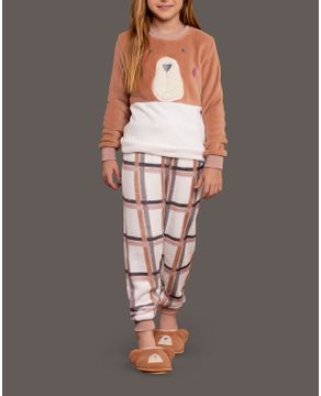Pijama-Infantil-Unissex-Lua-Lua-Soft-Fleece-Urso