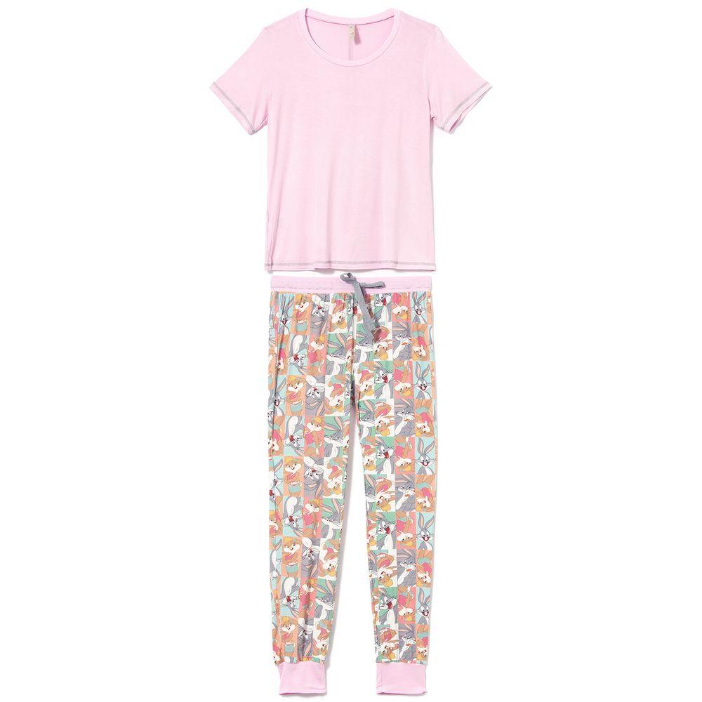 Pijama-Feminino-Longo-Acuo-Viscolycra-Pernalonga