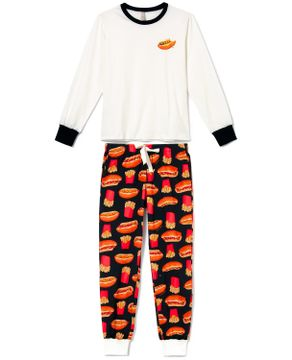 Pijama-Feminino-Acuo-Algodao-Cachorro-Quente