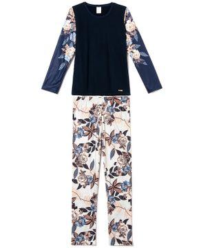 Pijama-Feminino-Toque-Soft-Pettenati-Floral