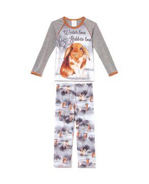 Pijama-Infantil-Feminino-Toque-Poliplex-Coelhos