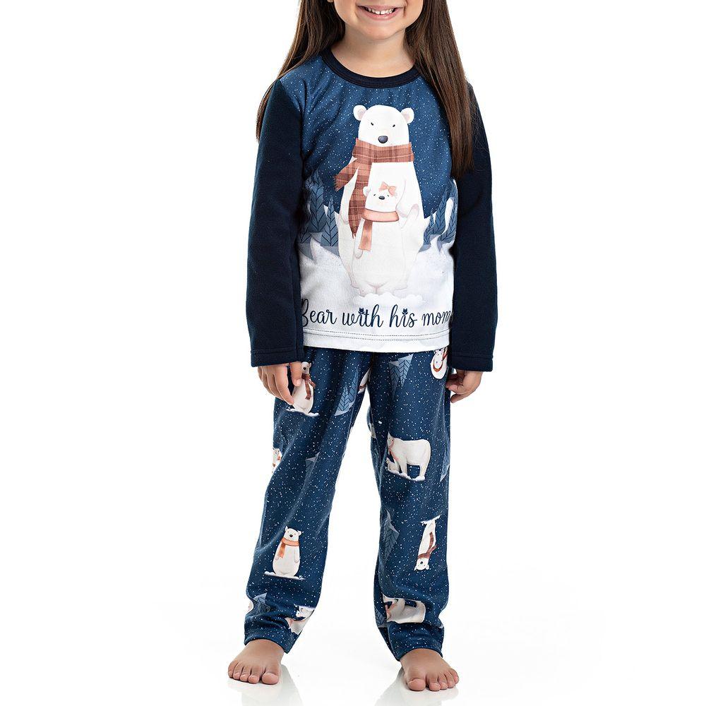 Pijama-Infantil-Feminino-Toque-Soft-Urso-Polar