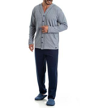 Pijama-Aberto-Masculino-Toque-Algodao-Mescla
