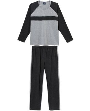 Pijama-Plus-Size-Masculino-Toque-Molecotton-Faixa