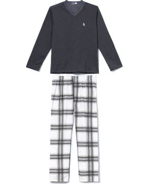 Pijama-Masculino-Lua-Cheia-Flanelado-Calca-Xadrez
