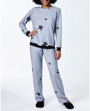 Pijama-Feminino-Lua-Cheia-Flanelado-Estrelas