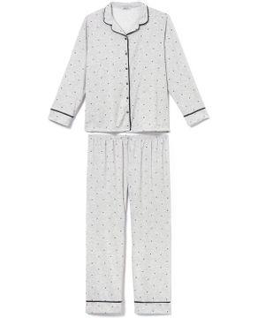 Pijama-Plus-Size-Feminino-Lua-Cheia-Flanelado-Poa