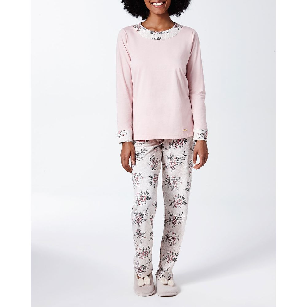 Pijama-Feminino-Lua-Cheia-Moletinho-Flanelado-Floral