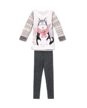 Pijama-Infantil-Feminino-Toque-Molecotton-Lobo