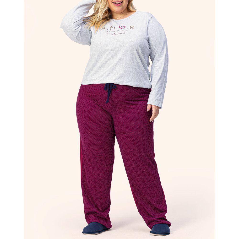 Pijama-Plus-Size-Feminino-Lua-Encantada-Algodao-Amor