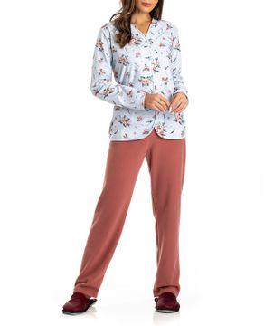 Pijama-Feminino-Aberto-Toque-Soft-Floral