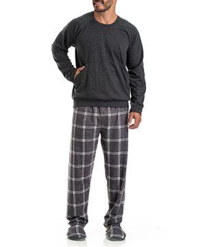 Pijama-Masculino-Toque-Flanelado-Calca-Xadrez