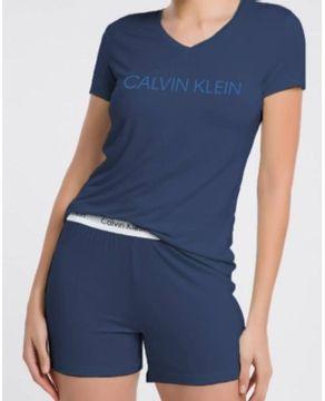 Pijama-Curto-Feminino-Calvin-Klein-ViscoLight-Logo