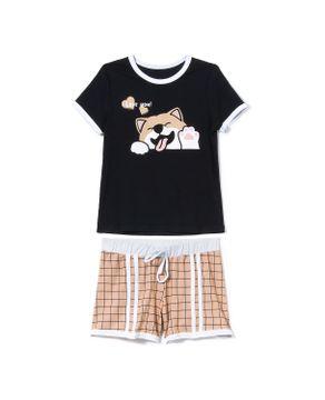 Pijama-Infantil-Feminino-Recco-Visco-Stretch-Cachorro