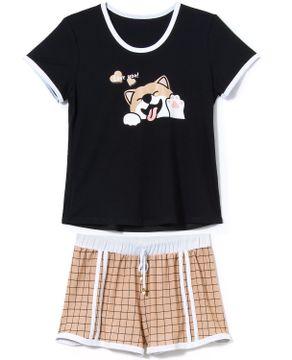 Pijama-Curto-Feminino-Recco-Visco-Stretch-Cachorro