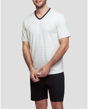 Pijama-Masculino-Curto-Recco-Viscolinho-Listras
