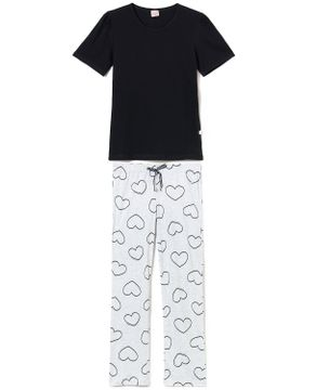 Pijama-Feminino-Lua-Encantada-Cotton-Calca-Coracoes