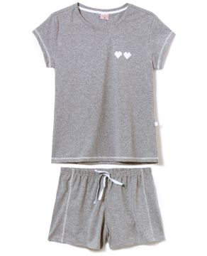 Pijama-Curto-Feminino-Lua-Encantada-Malha-Mescla