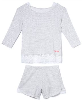 Pijama-Feminino-Any-Any-Moletinho-Mangas-7-8-Listras