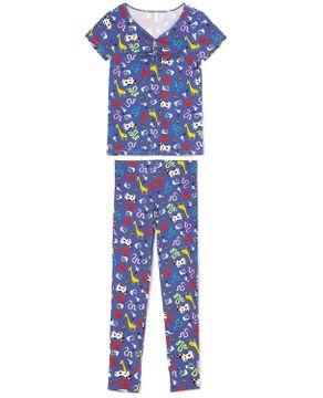 Pijama-Legging-Manga-Curta-Joge-Viscolycra-Animais
