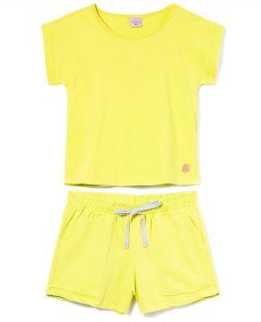 Pijama-Feminino-Curto-Lua-Encantada-Moletinho-Bolsos