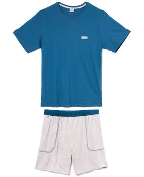 Pijama-Masculino-Curto-Lua-Encantada-Algodao-Bolsos