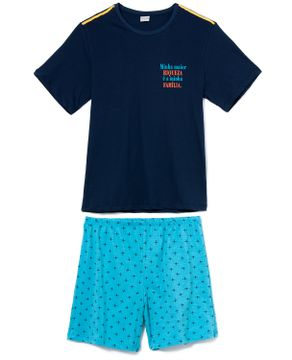Pijama-Masculino-Curto-Lua-Encantada-Algodao-Familia