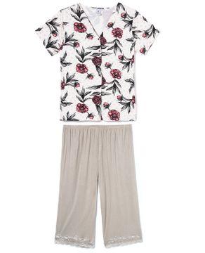 Pijama-Plus-Size-Aberto-Capri-Toque-Viscolycra-Floral