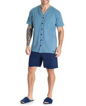 Pijama-Masculino-Curto-Aberto-Toque-100--Algodao