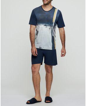 Pijama-Masculino-Curto-Recco-Microfibra-Grafismo