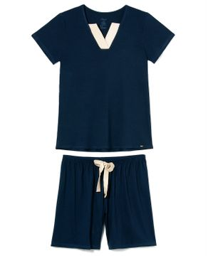 Pijama-Feminino-Curto-Recco-Visco-Stretch-Decote