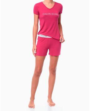 Pijama-Feminino-Curto-Calvin-Klein-Viscolight-Logo