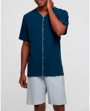Pijama-Aberto-Masculino-Recco-Algodao-Fio-Tinto